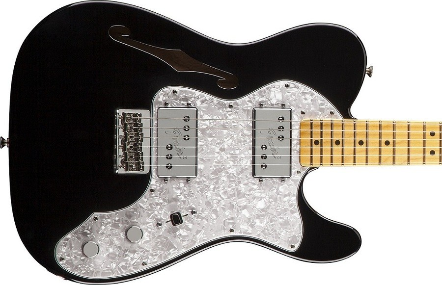 Fender American Vintage 72 Telecaster Thinline gitaar close
