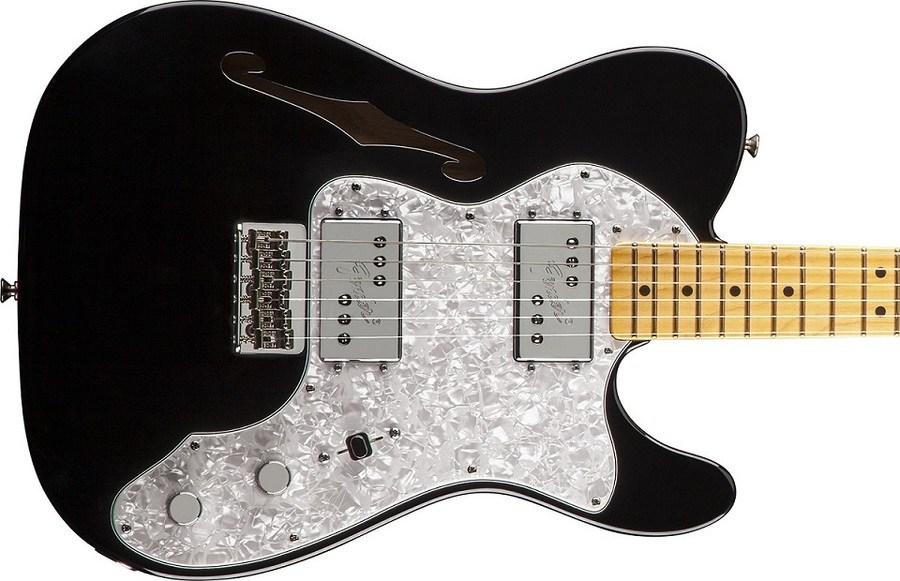 Fender American Vintage 72 Telecaster Thinline gitaar close