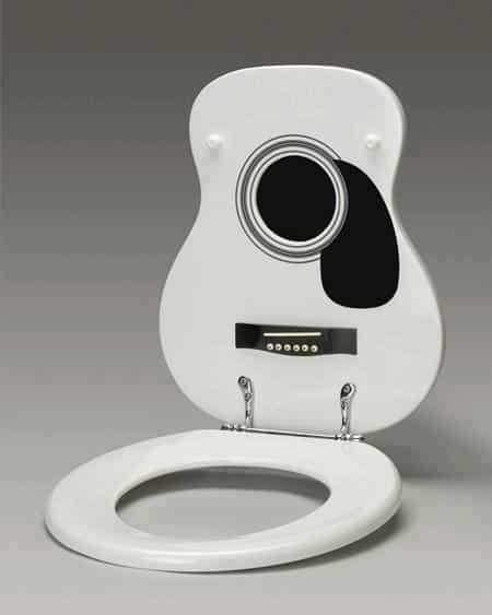 gitaar toiletbril