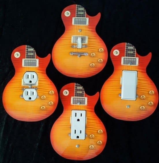 gitaarvormige schakelaar en wandcontactdozen