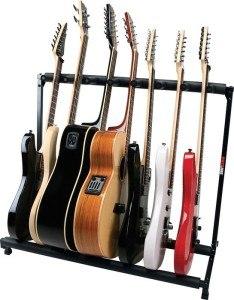 gitaarstandaard in vorm van een rek